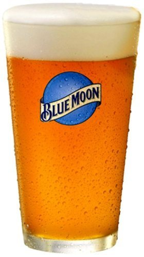 Blue Moon Glass (Blue Moon Belgian White Beer Premium Glassware - Set of 4 Pint Glasses)