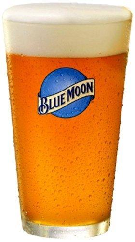 Blue Moon Belgian White Beer Premium Glassware - Set of 4 Pint Glasses