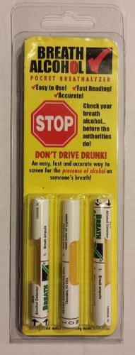 Breath Alcohol  08  Pocket Breathalyzer  3 Pack  By Breath Alcohol