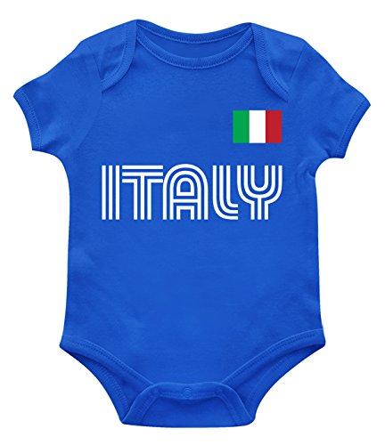 SpiritForged Apparel Italy Soccer Jersey Infant Bodysuit, Royal 12 Months