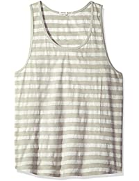 Men's Byron Organic Cotton Batik Stripe Tank