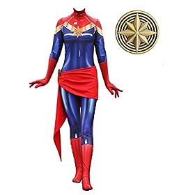- 41ww7ae7MvL - Texmex Cosplay Lady Captain Suit Halloween Costume Spandex Bodysuit Zentai