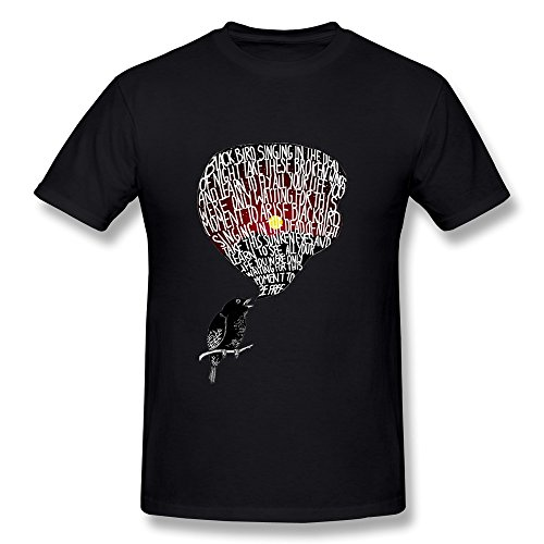 Rong'c Men's The Beatles Blackbird T-shirt