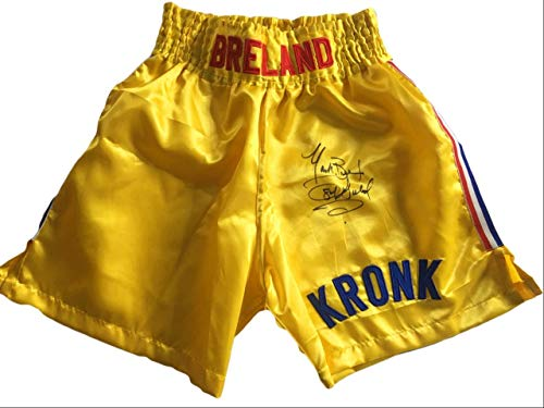 USA Mark Breland Autographed Custom Made Kronk Gym Boxing Trunks Autographed Custom Boxing Trunks