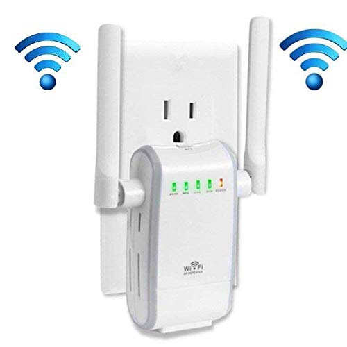 KLJ N300 WiFi Range Extender Booster Wireless Router WiFi Access Point/Router/Repeater Modes (Two Fast Ethernet Ports, Two Antennas, WPS, 2.4GHz, Support 802.11n/b/g)
