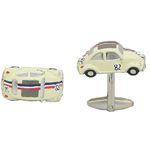 White Volkswagen Beetle Cufflinks