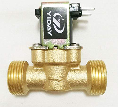 YIDAY DC12V 2-Way Normally Closed Valve Brass Electric Solenoid Valves for Air Water (3/4'')