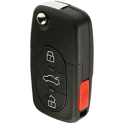 Replacement Keyless Entry Remote Flip Key Fob fits 1998 1999 2000 2001 VW Beetle, Golf, Jetta, Passat (HLO1J0959753F): Automotive