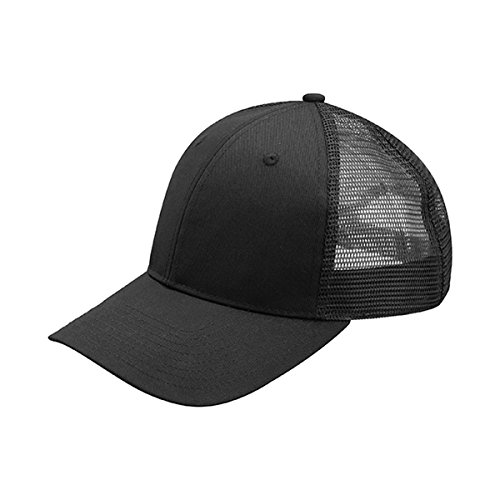 Hats & Caps Shop TWILL MESH CAP - By TheTargetBuys | (BLK-BLK)