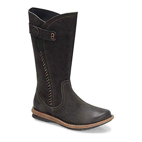 Born Womens Tonic Leather Closed Toe Knee High Fashion, Dark Grey, Size ()