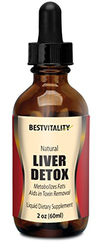 BestVitality - Vegan Safe All Natural Liver Detox - Helps Reverse Impacts Of Alcohol Consumption - Metabolizes Fat and Aids in Toxin Removal - With B12 & Folic Acid Boost. Orange flavor with Stevia.