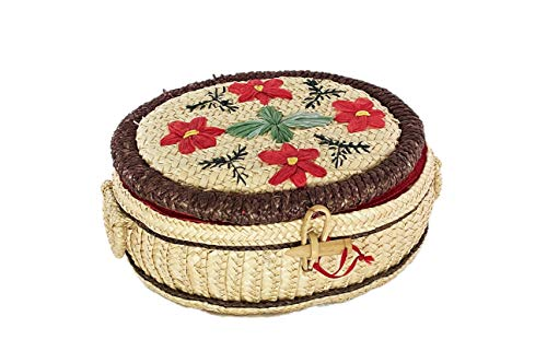 wicker basket - Vintage Sewing Basket, Wicker Basket, Sewing Kit, Sewing, Sewing Box, Storage Basket, Sewing Supplies, Farmhouse,