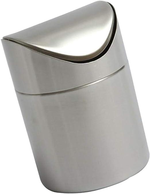 SM SunniMix Mini Papelera Creativa con Tapa de acero inoxidable ...