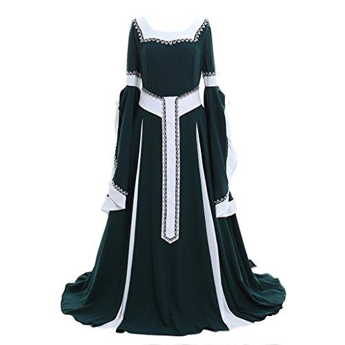 CosplayDiy Women's Deluxe Medieval Renaissance Victorian Dress Costume S