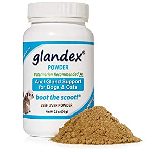 Glandex Dog & Cat Anal Gland Sac Fiber Supplement Powder with Pumpkin, Digestive Enzymes & Probiotics – Vet Recommended Healthy Bowels & Digestion – Boot The Scoot 2.5oz Beef Liver