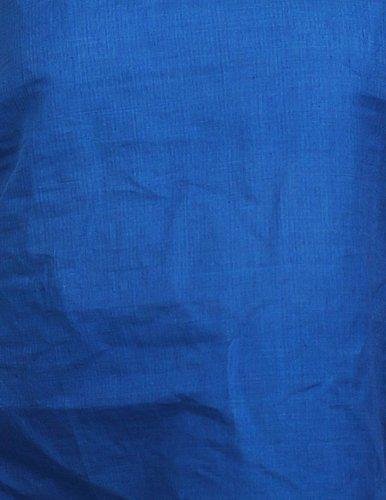 SpaghettiStrapTank-TopsfürFraueninblauHandwebstuhlgewebterBaumwolle - M/40 (Größe:Büste:81CmxLänge:53Cm)