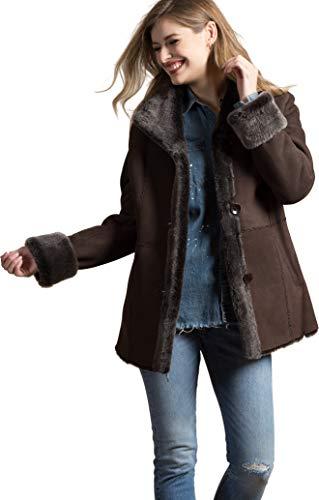 Jesslyn Brown Briesa Shearling Sheepskin Coat