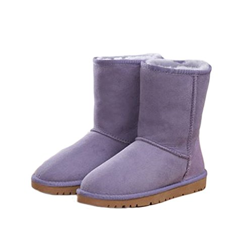 BULL Shearling Skidproof Foldable Purple Boots Twinface Women's Snow TITAN Winter Lined rC7wqrBTt