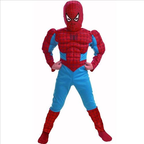 Catwoman Halloween Costume Party City (Disguise DI5766-S Spider Man Deluxe Muscle Torso Child Costume Size Small)