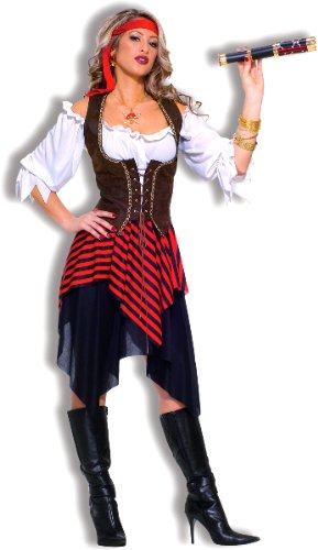 Sweet Buccaneer Adult Costume, Brown, Standard (One-Size) [Office Product]