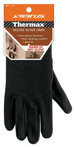 Seirus Thermax Liner Gloves - Seirus Deluxe Thermax Glove Liner Black - Small/Medium
