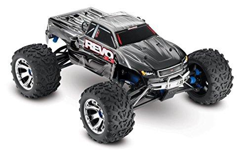 - Traxxas Revo 3.3: 1/10 Scale 4WD Nitro-Powered Monster Truck with TQi 2.4GHz Radio & TSM, Silver