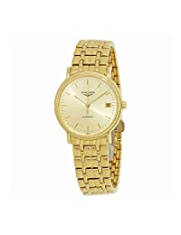 Longines Women's Gold Tone Steel Bracelet & Case Automatic Gold-Tone Dial Analog Watch L48212328