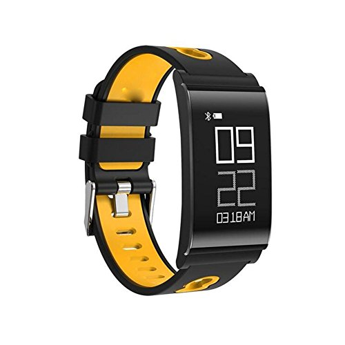 DACHUI Chic Sport Armband pedometer with large screen sleep heart rate caller information rela ting to the memory of sports multifunction pedometer, Orange by DACHUI