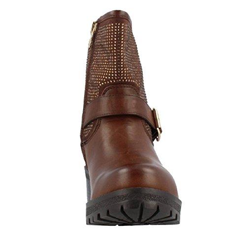 Botines XTI combinado marrón