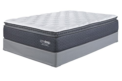 Ashley Furniture Signature Design - Sierra Sleep - Limited Edition Pillowtop Mattress - Traditional Inner Spring King Size Mattress - White (Sets Bunk Ashley Bed Furniture)