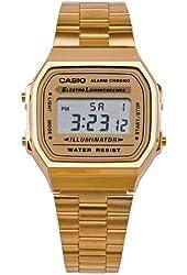 Casio A168WG9-A Casio Gold Digital Watch - Gold / One Size