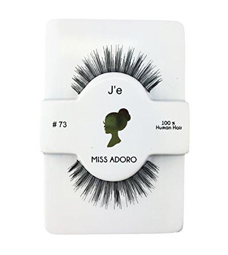 Miss Adoro #73 Rebecca False Eyelashes 100% Human Hair Faux Lashes 6 PACK