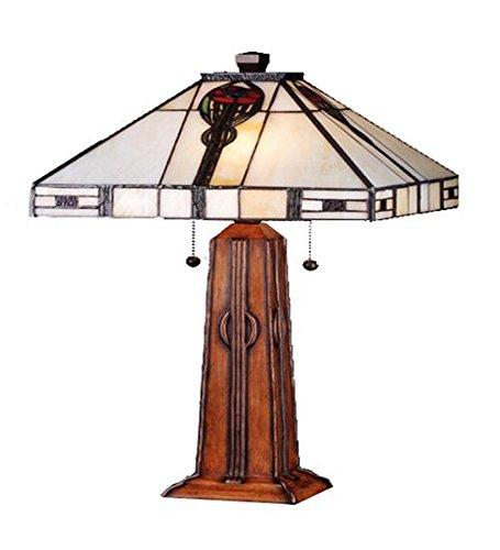 Meyda Tiffany 70965 Parker Poppy Table Lamp, 23.5