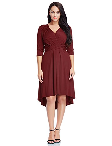 LookbookStore Womens Burgundy High Low Cocktail