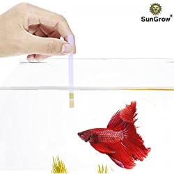 SunGrow Betta pH Test Strips - Just dip & read: Ensure Maximum comfort for fish & invertebrates: No complicated setup required (50 Strips)