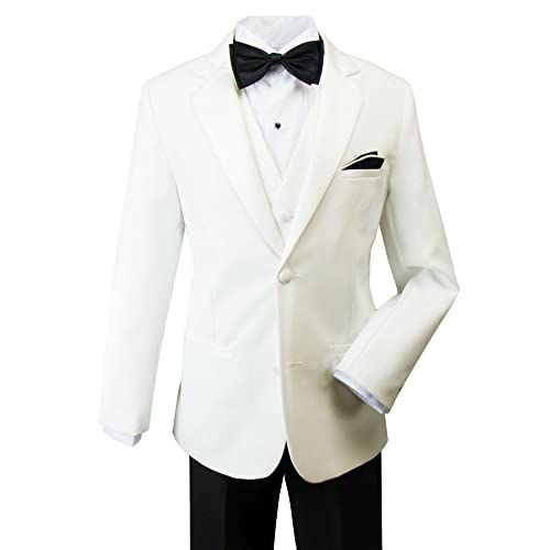 Spring Notion Little Boys' Modern Fit Tuxedo Set, No Tail get discount