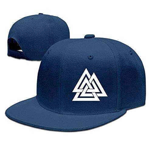 Runy Custom Valknut Logo Adjustable Baseball Hat & Cap - Tory Burch Symbol