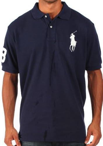 Ralph Lauren - Polo para Hombre - Logotipo en Grande - Azul Marino - M: Amazon.es: Ropa y accesorios