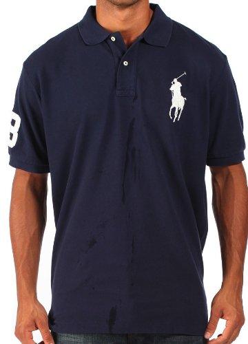 Ralph Lauren - Polo para hombre - Logotipo en grande - Azul marino ...