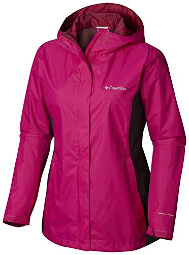 Columbia Women's Plus Size Arcadia II Jacket, Haute Pink/Shark X-Large