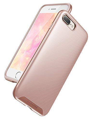 iPhone 8 Plus Case, iPhone 7 Plus Case, Anker KARAPAX Breeze Case Military-Grade Certified Protection, 3D Texture Protective Case [Support Wireless Charging] [Slim Fit] for iPhone 8 Plus -Rose Gold