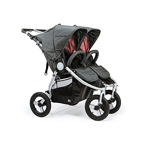 Bumbleride 2018 Indie Twin Stroller, color = Dawn Grey Coral