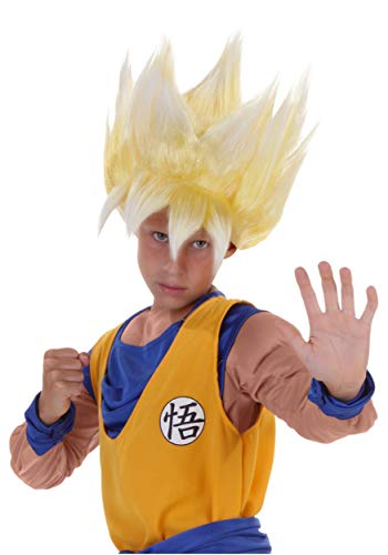 Child Dragon Ball Z Anime Super Saiyan Goku Wig Standard Yellow -
