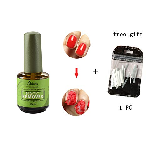 RedDhong Magic Nail Polish Remover, Professional Removes Soak-Off Gel Polish IN 3-5 Minutes, Easily & Quickly, Don't Hurt Your Nails - 15 ml