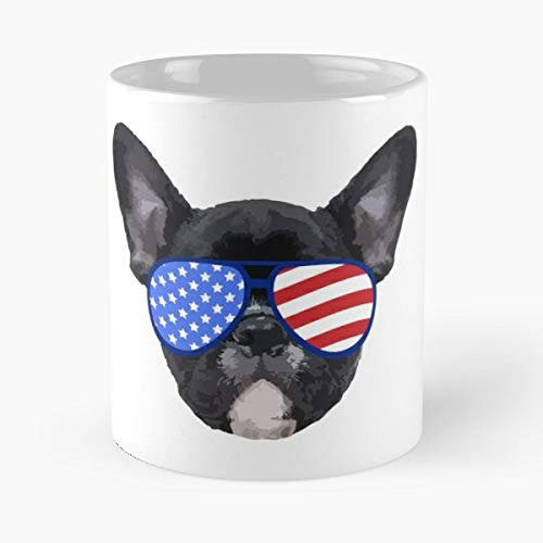 - Patriotic Bulldog Pit - Coffee Mugs Ceramic