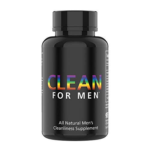 Clean for Men Fiber Supplement Support – Extra Strength, 100% Vegan Constipation Supplement & Bloating Pills – Digestive Cleanliness & Constipation Ease for Men – 60 Count