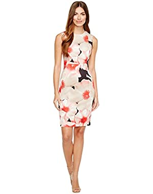 Calvin Klein Womens Floral Print Sheath Dress