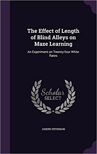 amazon the effect of length of blind alleys on maze learning an