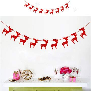 Christmas 2017 Red Gold Silver Christmas Banners Paper Garlands for Christmas Party Supplies - Festival Gifts & Party Supplies Christmas Sale - (Red) - 1 x Christmas -
