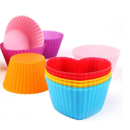 Silicone Baking Cups Muffin Cupcakes Liners Molds Sets in Storage Container-36 Pack by IELEK (Image #2)